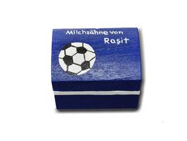 """Milchzahndose """"Fußball blau"""""""