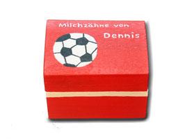 "Milchzahndose ""Fußball rot"""