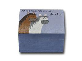 """Milchzahndose """"Pferde Lila"""""""