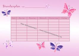 "Stundenplan ""Schmetterlinge"""