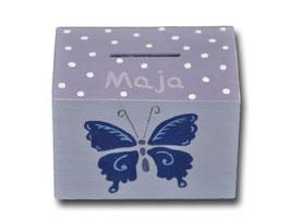 """Spardose """"Schmetterlinge Lila"""""""