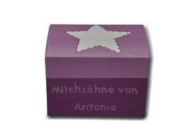 """Milchzahndose """"Stern Altrosa"""""""