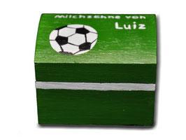 """Milchzahndose """"Fußball grün"""""""