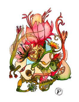 """Serie """"Sommersymphonie"""", Bildmotiv: """"Prelude der Flammen-Blume"""", hochwertiger Kunstdruck"""