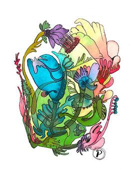 """Serie """"Sommersymphonie"""", Bildmotiv: """"Wiesenblumen-Improvisation"""", hochwertiger Kunstdruck"""