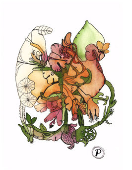 """Serie """"Sommersymphonie"""", Bildmotiv: """"Sonate in Orange"""", hochwertiger Kunstdruck"""
