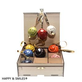 HAPPY & SMILES Weihnachtskugeln 9er-Set