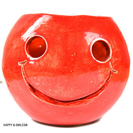 Mr.SMILES Kerzenkugel gross aussen rot - innen orange ca. 11cm Durchmesser