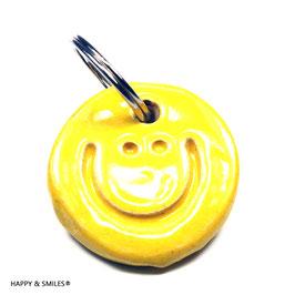 """Mr.SMILES Schlüsselanhänger Single, """"gelb"""""""