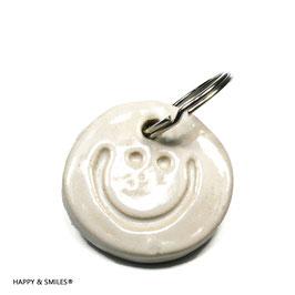 """Mr.SMILES Schlüsselanhänger Single, """"weiss"""""""