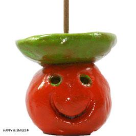 Mr. SMILES Smoker, Räuchermännchen orange-grün ohne Räucherstäbchen