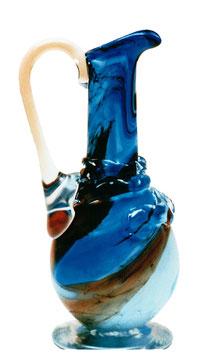 Glaskrug mit Henkel antiker Stil mundgeblasen Höhe ca. 29 cm in verschiedenen Farben
