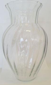 Vase klarglas optisches Design mundgeblasen Höhe ca. 38 cm