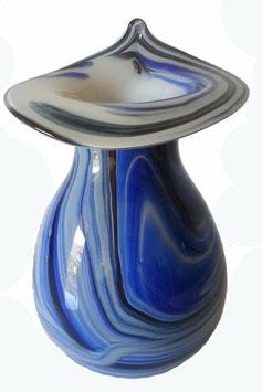 Vase bauchig mit verzierter Öffnung Höhe ca 16 cm in verschiedenen Farben