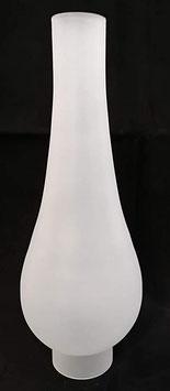 Ersatz Zylinder matt groß für Öllampe  mit Spiegel am oben angezeigten Bild, Höhe ca. 240 mm, Durchmesser Außen unten ca 50 mm, Durchmesser breiteste Stelle 90 mm