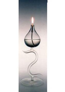 Öllampe Höhe 250 mm Klarglas mundgeblasen