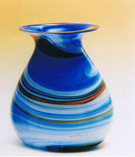 Vase Boxbeutel oval modern Höhe ca. 21 cm in verschiedenen Farben