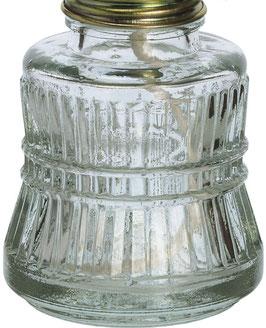 Petroleum Behälter für antike Öllampe Höhe 14,5 cm, Inhalt 0,1 Liter, Durchmesser ca. 5,5  cm, Gewinde Durchmesser ca. 2,6 cm ohne Gewindering