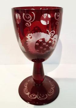 original alter Egermann Weinglas, Weinpokal Höhe ca 125 mm, sehr gute Zustand
