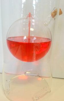 Öllampe mit Windschutz, Windlicht mundgeblasene Öllampe aus klarem Kristallglas, Tischdekoration Höhe ca. 25 cm und Durchmesser 12 cm ohne Korken