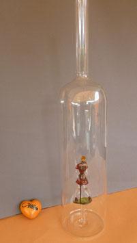 XXL-Riesen Flasche mit farbige Golferin Höhe ca. 480 mm, Inhalt ca. 2,00 Liter