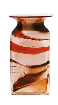 Vase eckig Tintenfass Höhe ca. 15 cm in verschiedenen Farben