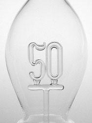 Karaffe mundgeblasen mit Jahreszahl 50, Inhalt 0,5 L., Höhe ca 300 mm