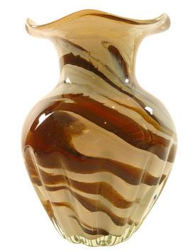 Vase modern bauchig verziert Höhe ca. 20 cm in verschiedenen Farben
