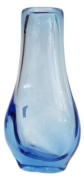 Vase mundgeblasen transparent blau Höhe ca. 28 cm