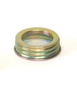 Ersatz `Ring mit Verschraubung für Öllampe mit Spiegel 11´ Messingfarben, Höhe 35,5 cm Innengewinde 44 mm