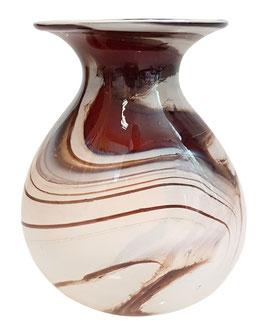 Vase Boxbeutel oval modern Höhe ca. 17-19 cm in verschiedenen Farben