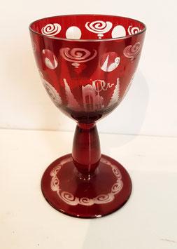 Originales altes Egermann Weinglas, Sherry Glas  Höhe ca 110 mm, sehr gute Zustand