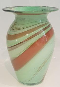 Vase groß ovale Form Höhe ca. 24 cm in verschiedenen Farben