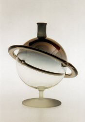 Flasche Saturn 0,35 L. gold oder violett irisierend