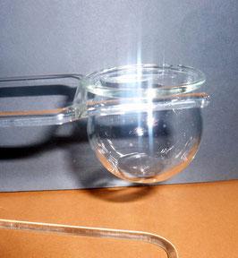 Glasbehälter für Schluckspeckt klar, Höhe ca.35 mm, Breite ca.40 mm