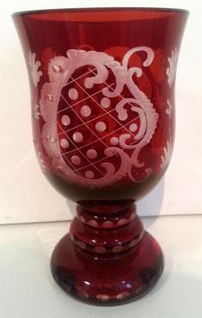 original alter Egermann Weinglas, Weinpokal Höhe ca 135 mm, sehr gute Zustand