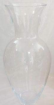 Vase mundgeblasen klar Glasvase übergroße Bodenvase XXL Riesen Blumenvase Kristallglas Höhe 46 cm Durchmesser 22 cm Öffnung 15 cm