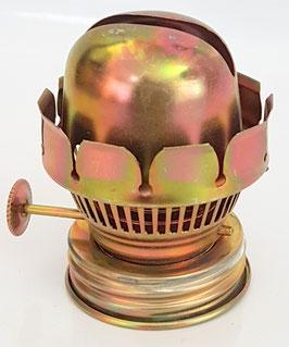 Kleiner Ersatz Brenner mit Verschraubung für Öllampe mit Spiegel 5´ im Messinghalterung, f. Öllampe Höhe 28,5 cm Höhe 45 mm Gewinde Durch, 20-22 mm mit Ring