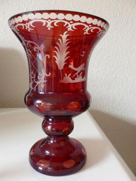 original Egermannvase rot, Höhe ca 210 mm