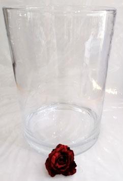 Runde Boden Vase gerade Form mundgeblasen klar Glas Vase Blumenvase Kristallglas Höhe 35 cm Breite 25 cm  mundgeblasen Schwer 5,5 Kg