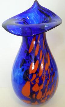 Vase bauchig mit verzierter Öffnung Höhe ca 25-28 cm in verschiedenen Farben