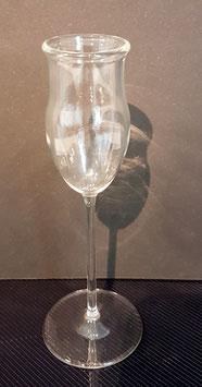mundgeblasenes Grappa Glas klar Höhe 135 mm