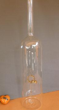 XXL-Riesenflasche mit goldenen Hochzeitsringen Höhe ca. 480 mm, Inhalt ca 2,00 Liter