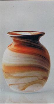 Vase oval Höhe ca. 13 cm in verschiedenen Farben