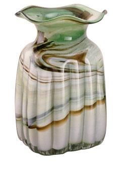 Vase eckig optisch modern Höhe ca. 18 cm in verschiedenen Farben
