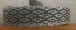 Brettchen - Borte, handgewoben grau