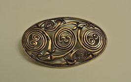 Keltische Brosche mit Spiralmuster