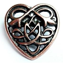 Brosche Keltisches Herz