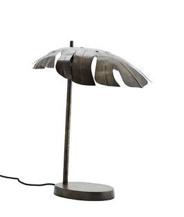 Monstera Tischlampe Design Art Noveau Tischleuchte aus Metall Tropische Lampe Blatt Dschungel
