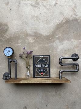 Wasserrohr Möbel Rohrregal im Steampunk Stil - Industrial Regal mit Manometer